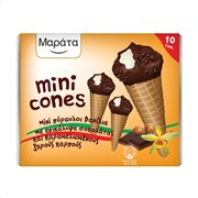 ΜΑΡΑΤΑ Mini Cones Παγωτό Πύραυλοι Βανίλια με Επικάλυψη Σοκολάτας 10τεμ 400gr