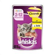 WHISKAS Casserole Υγρή Τροφή Γάτας Junior 2-12 μηνών Κοτόπουλο 85gr