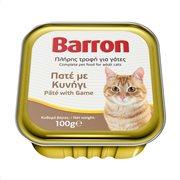 BARRON Υγρή Τροφή Γάτας με Κυνήγι Πατέ 100gr