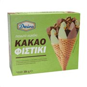DESINO Παγωτό Πύραυλος Κακάο Φιστίκι 6τεμ 384gr (720ml)