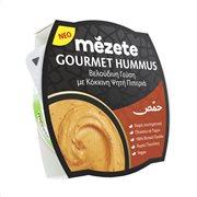Σαλάτα Gourmet Hummus με Κόκκινη Ψητή Πιπεριά MEZETE Vegan Χωρίς γλουτένη 215gr
