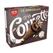 CORNETTO Παγωτό Πύραυλος Chocolate 6τεμ 360gr (540ml)