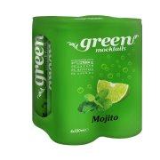 GREEN Mocktails Αναψυκτικό Mojito με Στέβια Χωρίς ζάχαρη 4x330ml