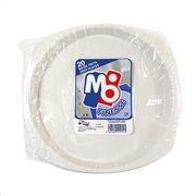 ΜΟΡΝΟΣ Πιάτα Πλαστικά Βαθειά Λευκά 20Τεμ