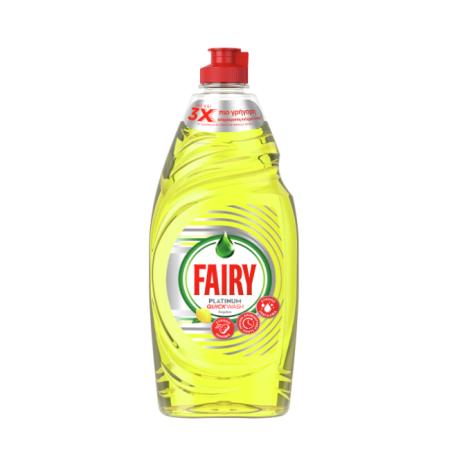 FAIRY Platinum Quickwash Απορρυπαντικό Πιάτων Υγρό Λεμόνι 654ml