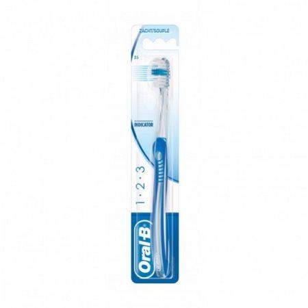 ORAL-B Οδοντόβουρτσα 1-2-3 Indicator 35 μέτρια