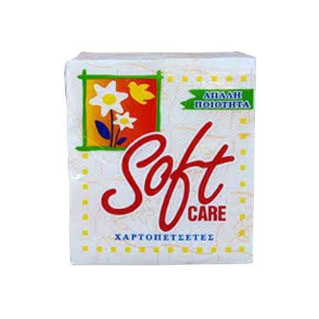 SOFT CARE Χαρτοπετσέτες Καρό Πορτοκαλί 80 φύλλα 110gr