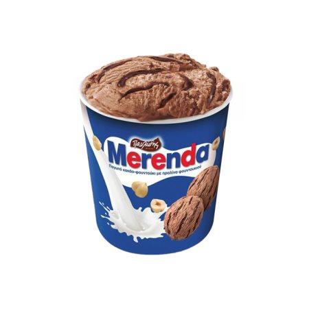 MERENDA Παυλίδης Παγωτό Πραλίνα Φουντουκιού 480gr (850ml)