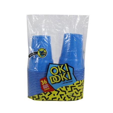 OKI DOKI Ποτήρια Μπλε 430ml 36τεμ