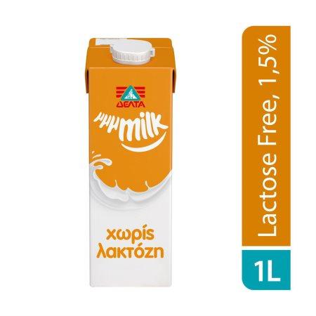 ΔΕΛΤΑ Μμμmilk Γάλα Υψηλής Παστερίωσης Χωρίς λακτόζη 1lt