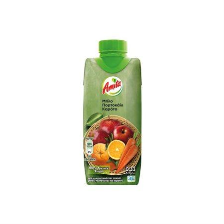 AMITA Χυμός Φρουτοποτό Μήλο Πορτοκάλι Καρότο 330ml