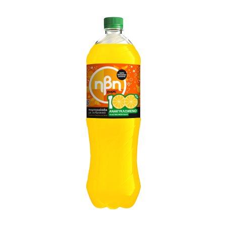 ΗΒΗ Αναψυκτικό Πορτοκαλάδα με Ανθρακικό Χωρίς ζάχαρη 1,5lt