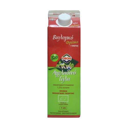 ΕΒΟΛ Φρέσκο Γάλα Ελαφρύ 1,5% Βιολογικο 1lt