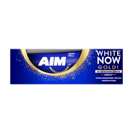 AIM Οδοντόκρεμα White Now Gold 50ml