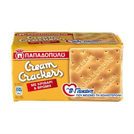 ΠΑΠΑΔΟΠΟΥΛΟΥ Cream Κράκερς με Κριθάρι & Βρώμη 185gr