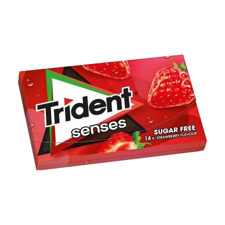 TRIDENT Senses Τσίχλες Φράουλα 27gr