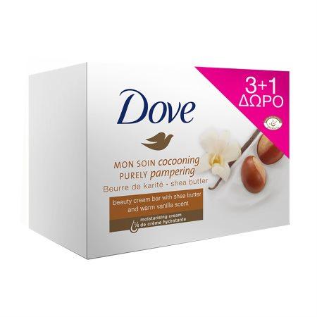 DOVE Σαπούνι Βούτυρο Καριτέ 3x100gr +1 Δώρο