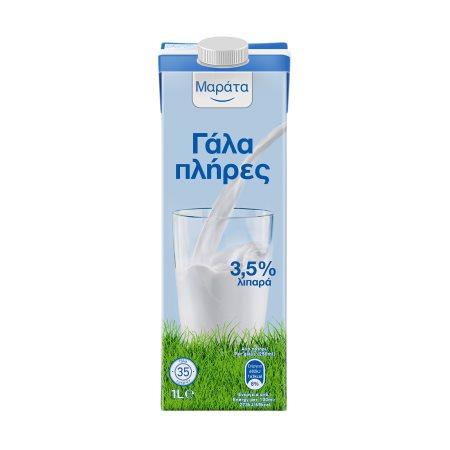 ΜΑΡΑΤΑ Γάλα Υψηλής Παστερίωσης Πλήρες 1lt