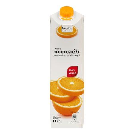 ΜΑΡΑΤΑ Χυμός Φυσικός Πορτοκάλι 1lt