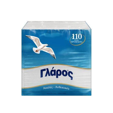 ΓΛΑΡΟΣ Χαρτοπετσέτες 110 φύλλα 190gr