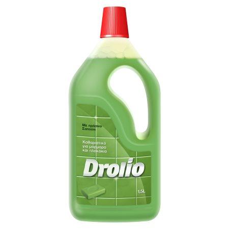 DROLIO Καθαριστικό Υγρό Πατώματος Πράσινο Σαπούνι 1,5lt