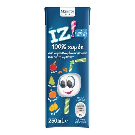 ΜΑΡΑΤΑ Iz Χυμός Φυσικός 4 Φρούτα 250ml