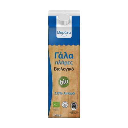 ΜΑΡΑΤΑ Γάλα Υψηλής Παστερίωσης Πλήρες Βιολογικό 1lt