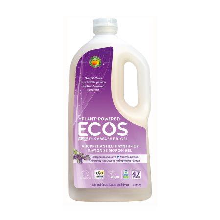ECOS Απορρυπαντικό Πλυντηρίου Πιάτων Υγρό Λεβάντα Vegan 47 πλύσεις 1,183lt