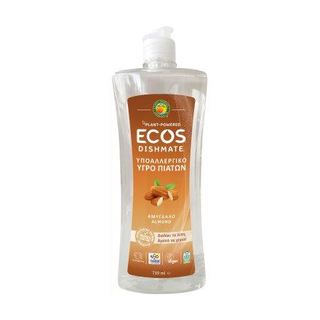 ECOS Απορρυπαντικό Πιάτων Υγρό Αμύγδαλο Vegan 739ml