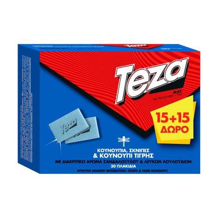 TEZA Εντομοαπωθητικές Ταμπλέτες 15τεμ +15τεμ Δώρο