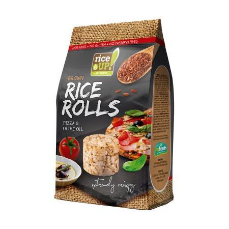 RICE UP Mini Ρυζογκοφρέτες Πίτσα & Ελαιόλαδο Ολικής Άλεσης Χωρίς γλουτένη 50gr