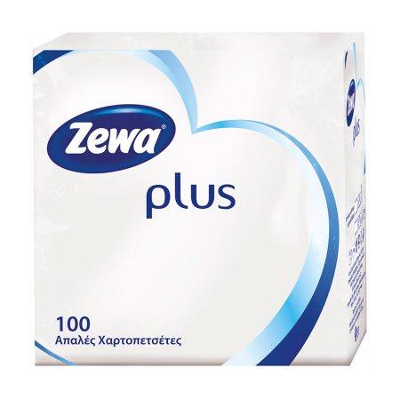 ZEWA Plus Χαρτοπετσέτες Λευκές 100 φύλλα 153gr