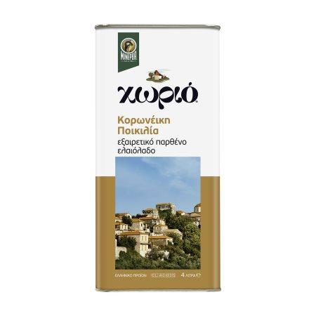 ΜΙΝΕΡΒΑ Χωριό Εξαιρετικό Παρθένο Ελαιόλαδο Ποικιλία Κορωνέικη 4lt