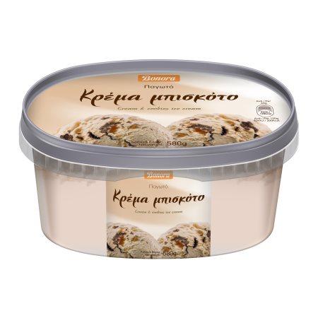 BONORA Παγωτό Κρέμα & Μπισκότο 580gr (1lt)