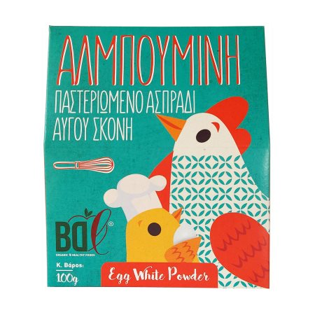 BDL Αλμπουμίνη Παστεριωμένο Ασπράδι Αυγού σε σκόνη 100gr