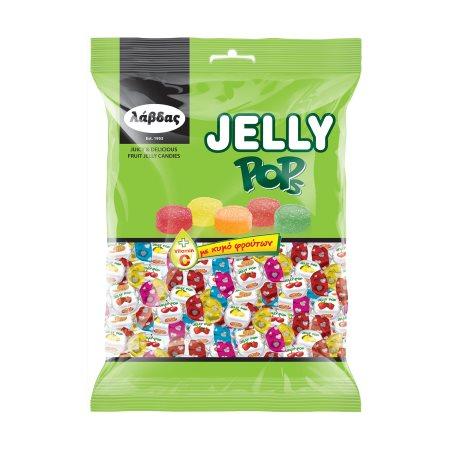 ΛΑΒΔΑΣ Jelly Pop Καραμέλες με Χυμό Φρούτων 350gr
