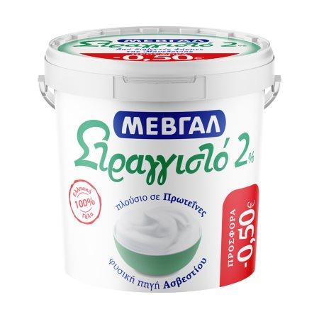 ΜΕΒΓΑΛ Γιαούρτι Στραγγιστό 2% 1kg
