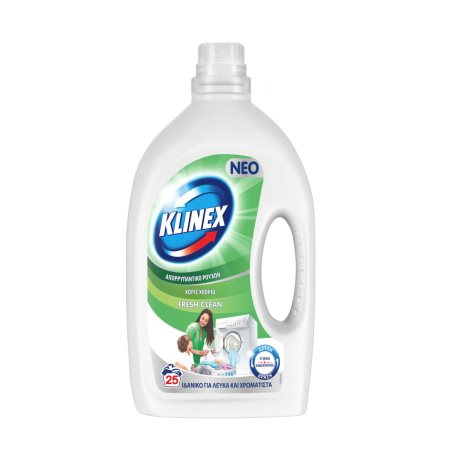 KLINEX Απορρυπαντικό Πλυντηρίου Ρούχων Υγρό Fresh Clean 25 πλύσεις
