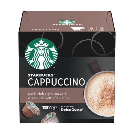 STARBUCKS Καφές Cappuccino σε Κάψουλες συμβατές με μηχανή Dolce Gusto 6x5,5gr+6x14,5gr
