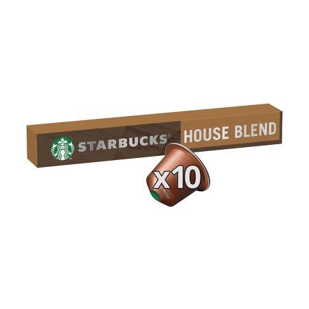 STARBUCKS Καφές Espresso House Blend Lungo σε Κάψουλες συμβατές με μηχανή Nespresso 10x5,7gr