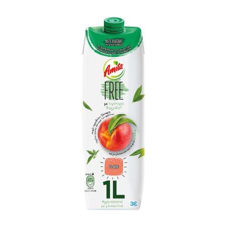 AMITA Free Χυμός Φρουτοποτό Ροδάκινο 1lt