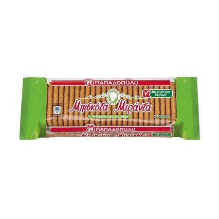 ΠΑΠΑΔΟΠΟΥΛΟΥ Μιράντα Μπισκότα 30% Λιγότερη ζάχαρη 250gr
