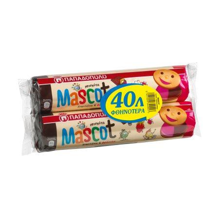 ΠΑΠΑΔΟΠΟΥΛΟΥ Mascot Μπισκότα Σοκολάτα Φράουλα 2x200gr