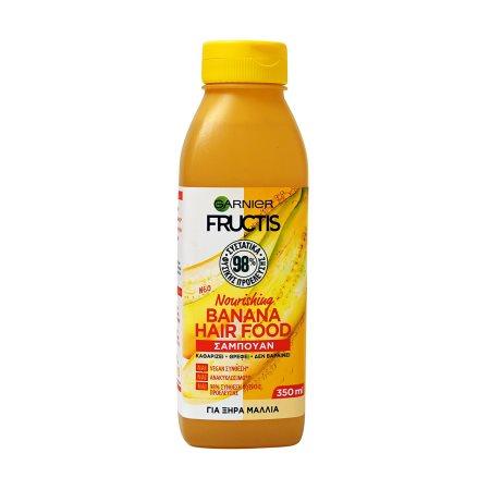 FRUCTIS Σαμπουάν Μαλλιών Hair Food Banana Ξηρά Vegan 350ml