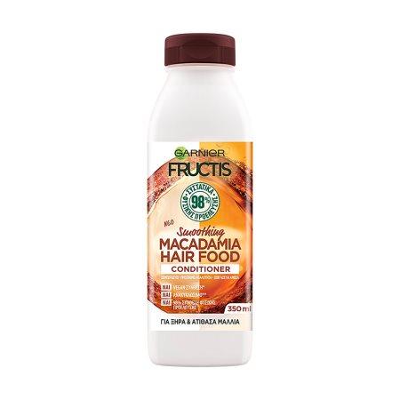 FRUCTIS Κρέμα Μαλλιών Hair Food Macademia Ξηρά & Ατίθασα Vegan 350ml