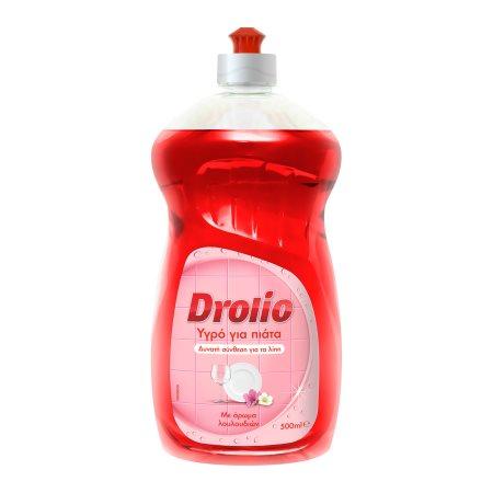 DROLIO Απορρυπαντικό Πιάτων Υγρό με Άρωμα Λουλουδιών 500ml