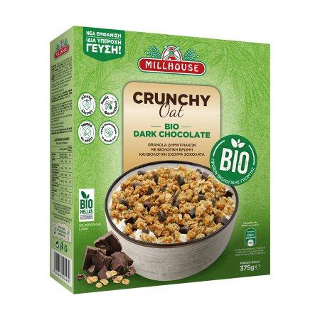 MILLHOUSE Crunchy Oat Τραγανές Μπουκιές Δημητριακών με Βρώμη & Κομμάτια Σοκολάτας Βιολογικές 375gr
