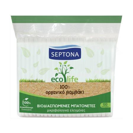 SEPTONA Ecolife Ωτοκαθαριστές Οργανικό Βαμβάκι 100τεμ
