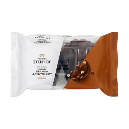 ΣΤΕΡΓΙΟΥ Muffin Σοκολάτας με Γέμιση Πραλίνα Φουντουκιού 2τεμ. 240gr