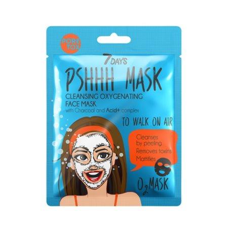 7 DAYS Μάσκα Καθαρισμού Προσώπου Υφασμάτινη Charcoal 28gr